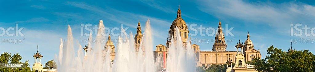 Barcelona MNAC Museu Nacional d'Art de Catalunya Font Magica Spain stock photo