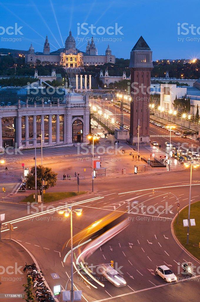 Barcelona night view royalty-free stock photo