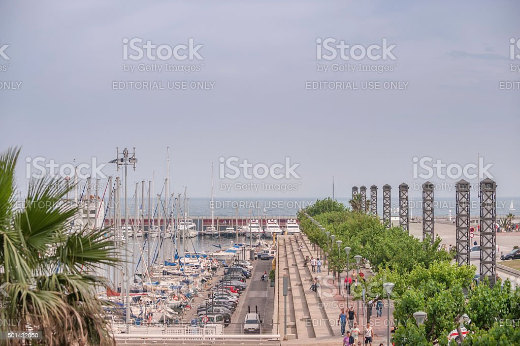 Barcelona Olympic Port marina built for the 1992 Olympic Games stock photo