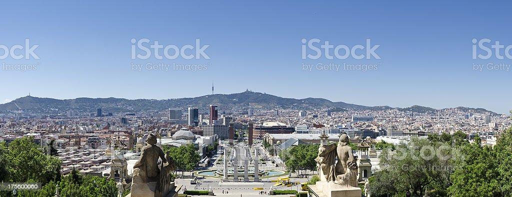 Barcelona panorama, Spain. stock photo