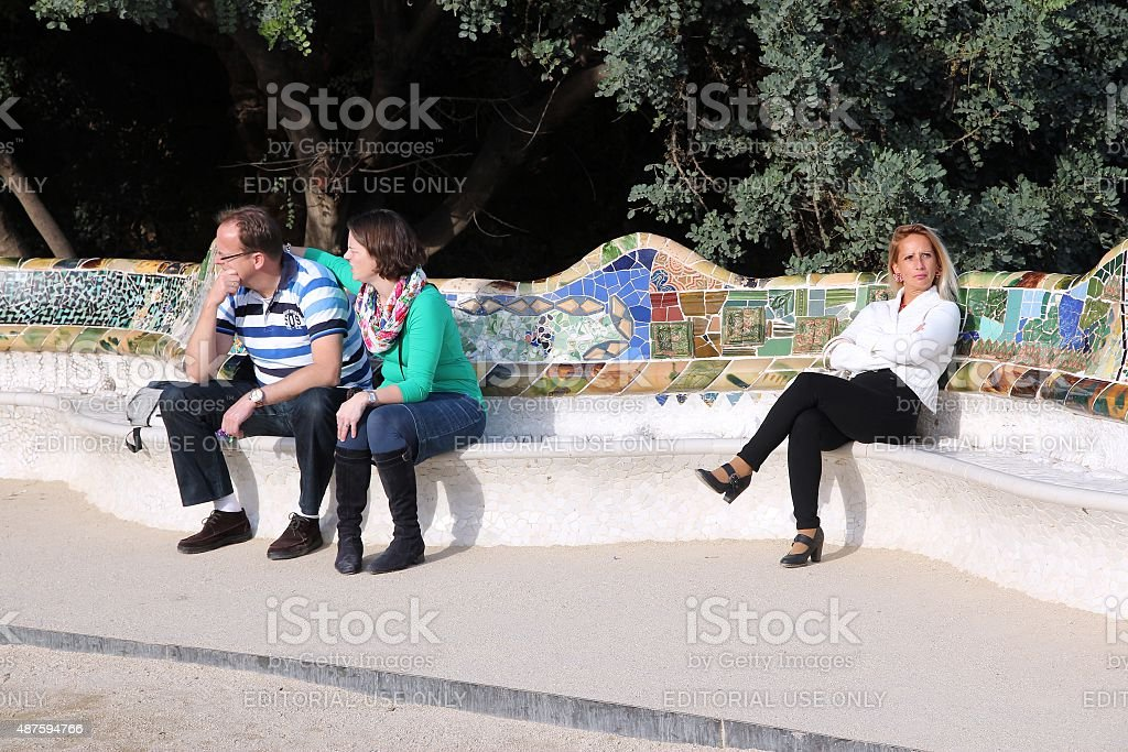 Barcelona Parc Guell stock photo