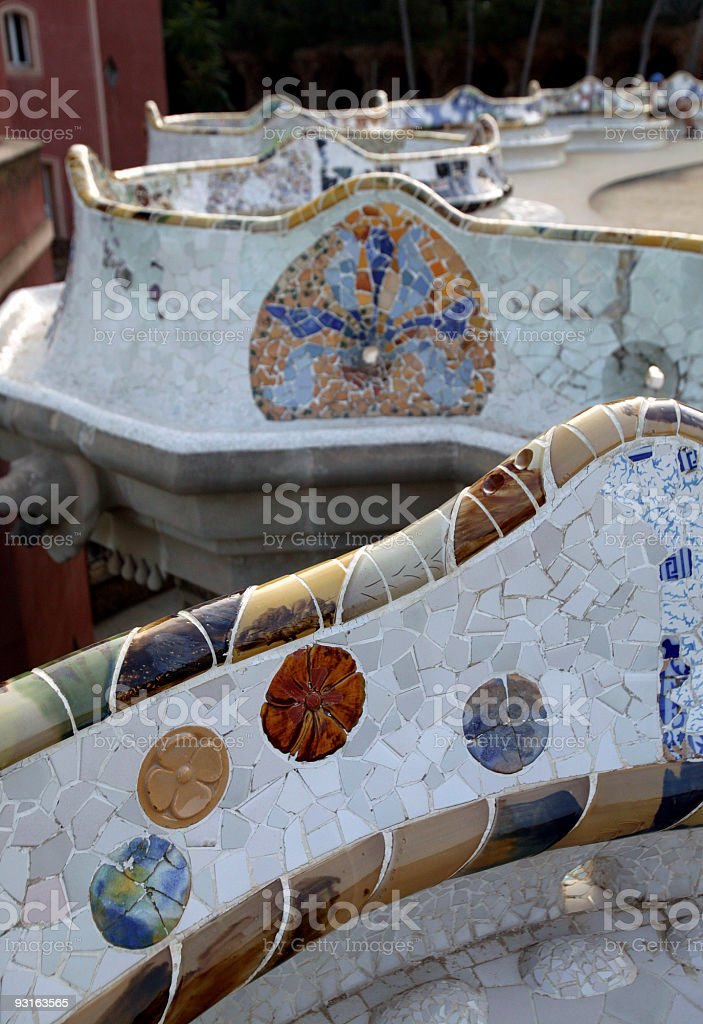 Barcelona Park Guell Gaudi royalty-free stock photo