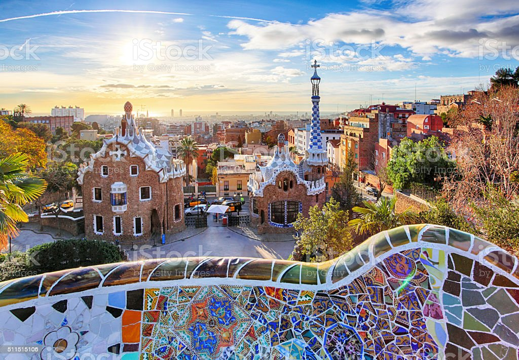 Barcelona - Park Guell, Spain stock photo