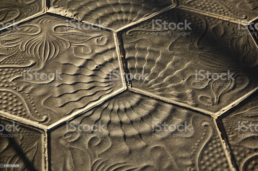 Barcelona paving - Gaudi stock photo