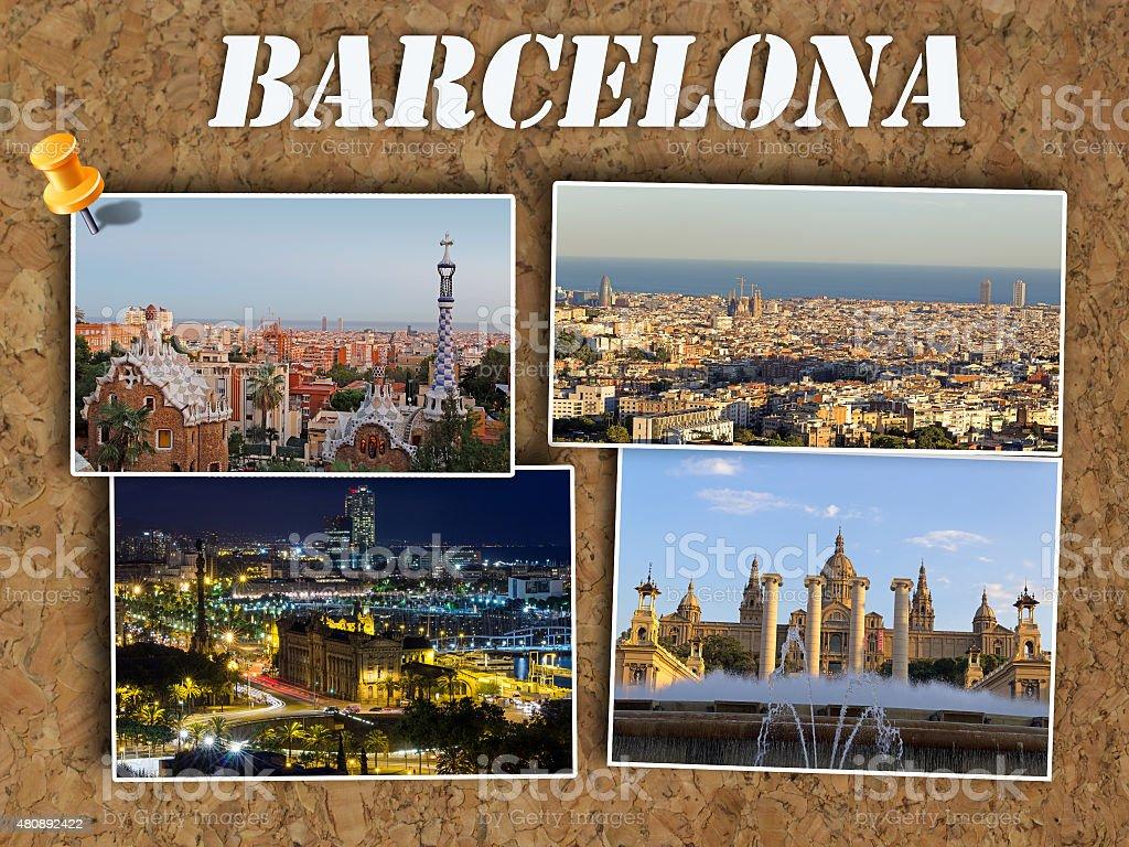 Barcelona photo collage stock photo
