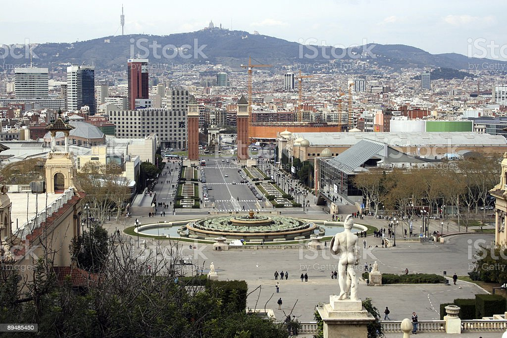 Barcelona, Plaza de Espana royalty-free stock photo