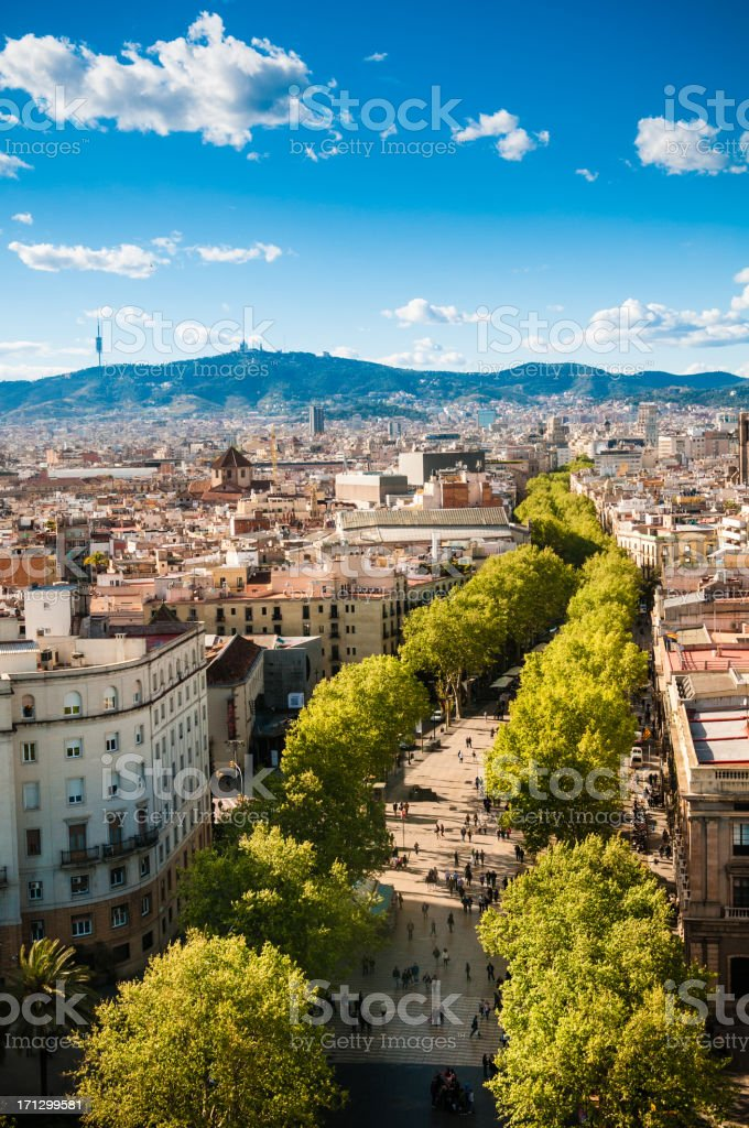 Barcelona Ramblas royalty-free stock photo
