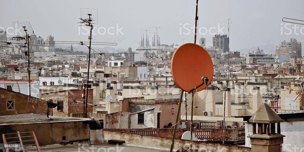 Barcelona Roofs royalty-free stock photo