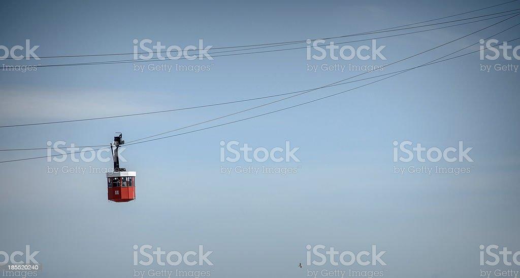 Barcelona ropeway royalty-free stock photo