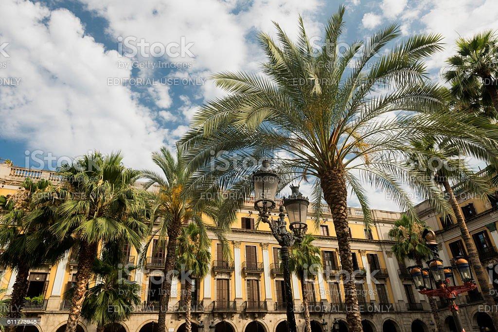 Barcelona (Spain): Royal Square stock photo