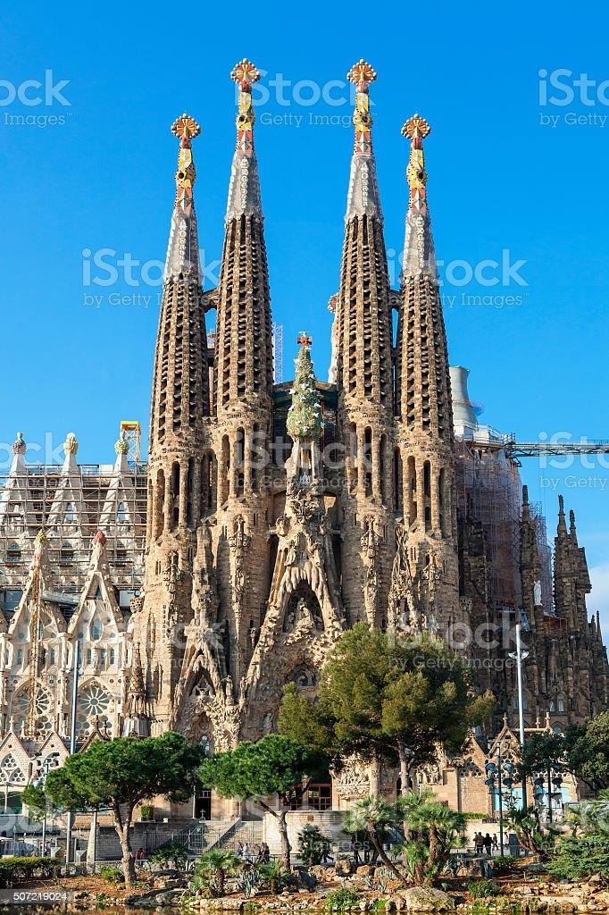 Barcelona, Sagrada Familia by Antonio Gaudi stock photo