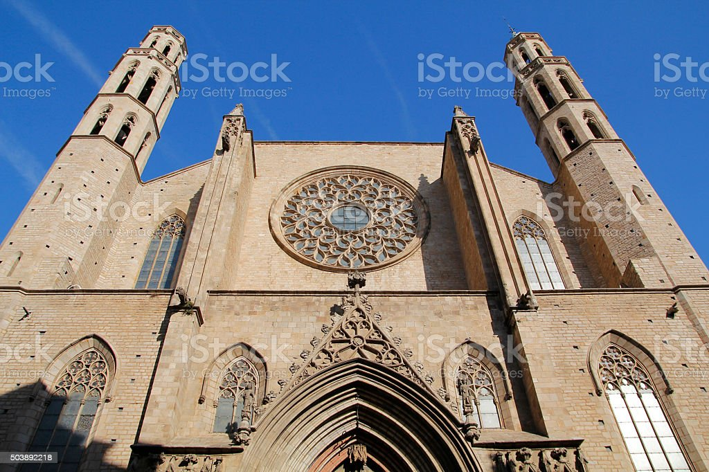 Barcelona, Santa Maria del Mar stock photo