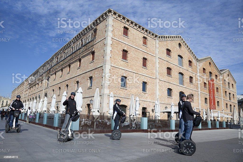 Barcelona Segway tour royalty-free stock photo