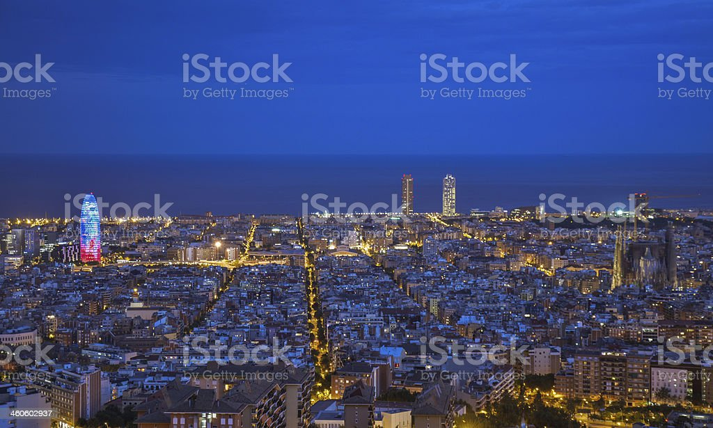 Barcelona skyline royalty-free stock photo