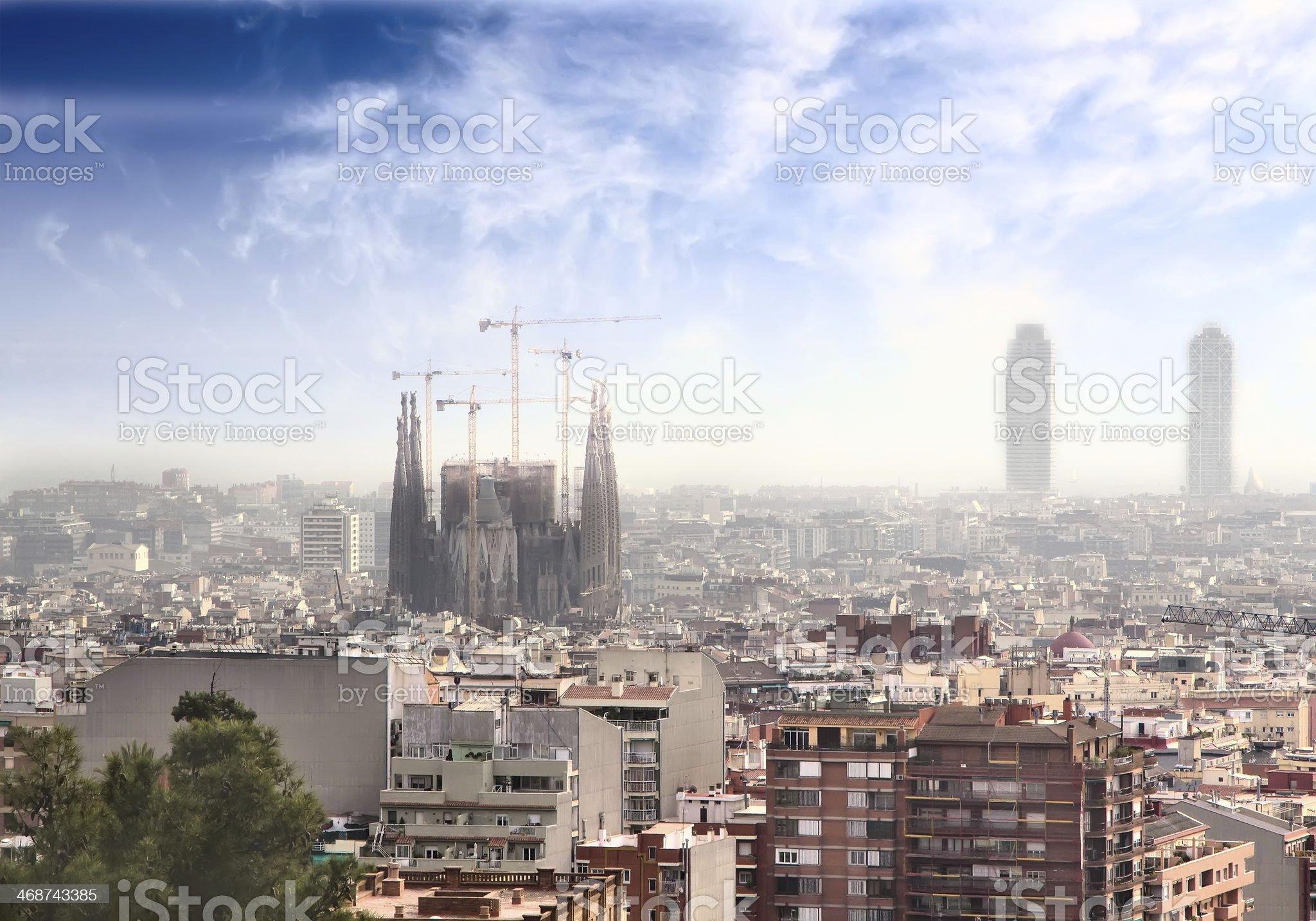 Barcelona skyline royalty-free stock photo