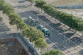 Barcelona, Spain - 25 September 2016: Tram Transport in Barcelona.