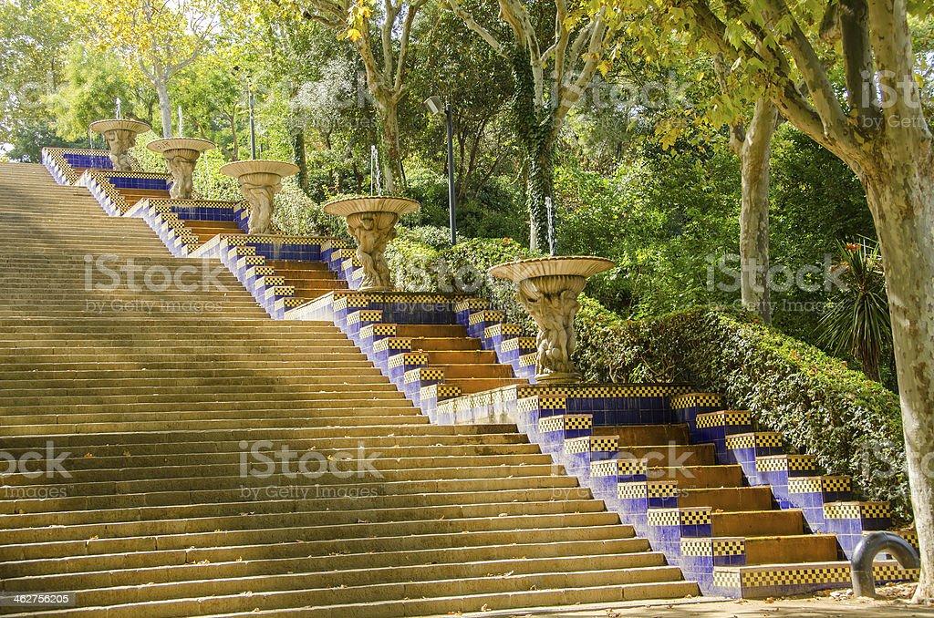 Barcelona - Spain, Montjuic gardens stock photo