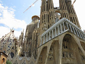 05.07.2016, Barcelona, Spain: Sagrada Familia church under cons