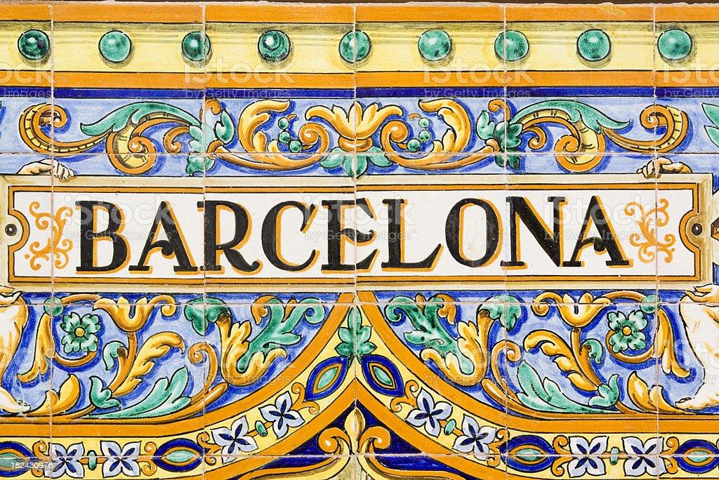 Barcelona Spanish Tiles royalty-free stock photo