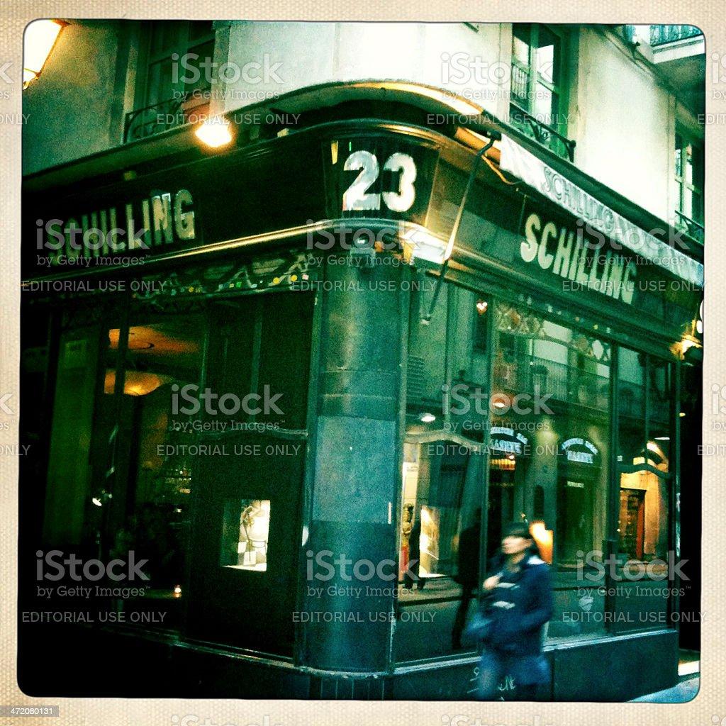 Barcelona: The Schilling at dusk stock photo
