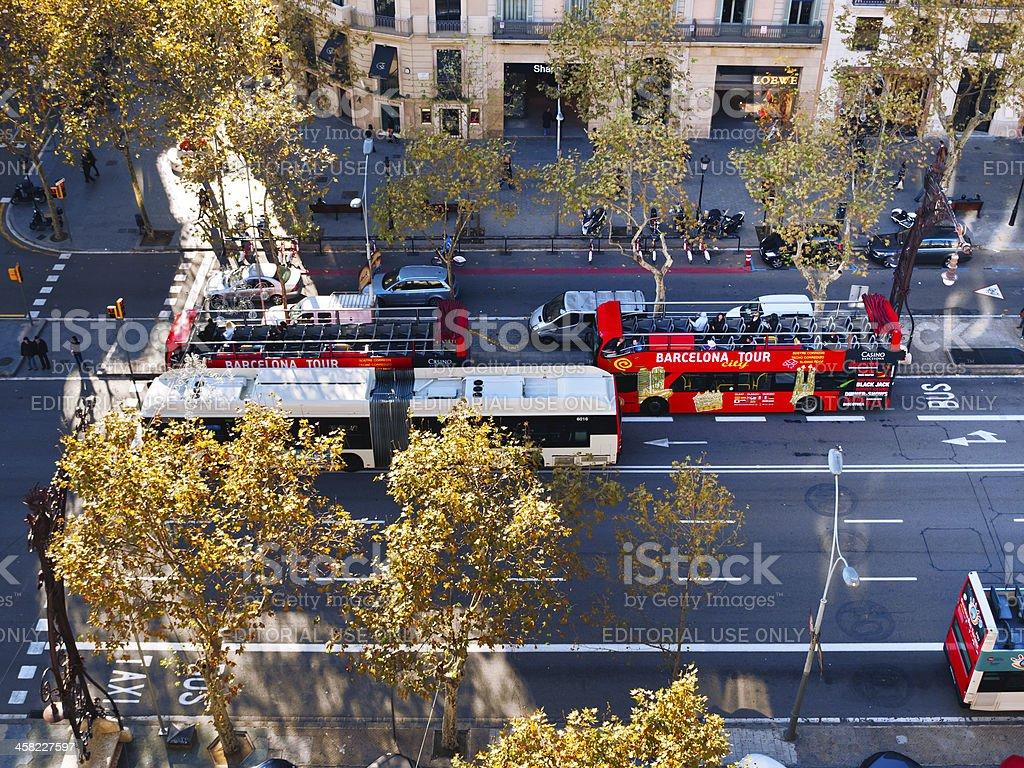 Barcelona Tour Bus stock photo