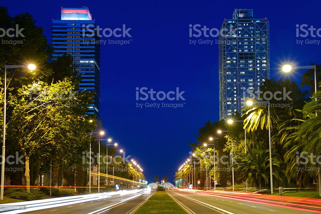 Barcelona Towers royalty-free stock photo