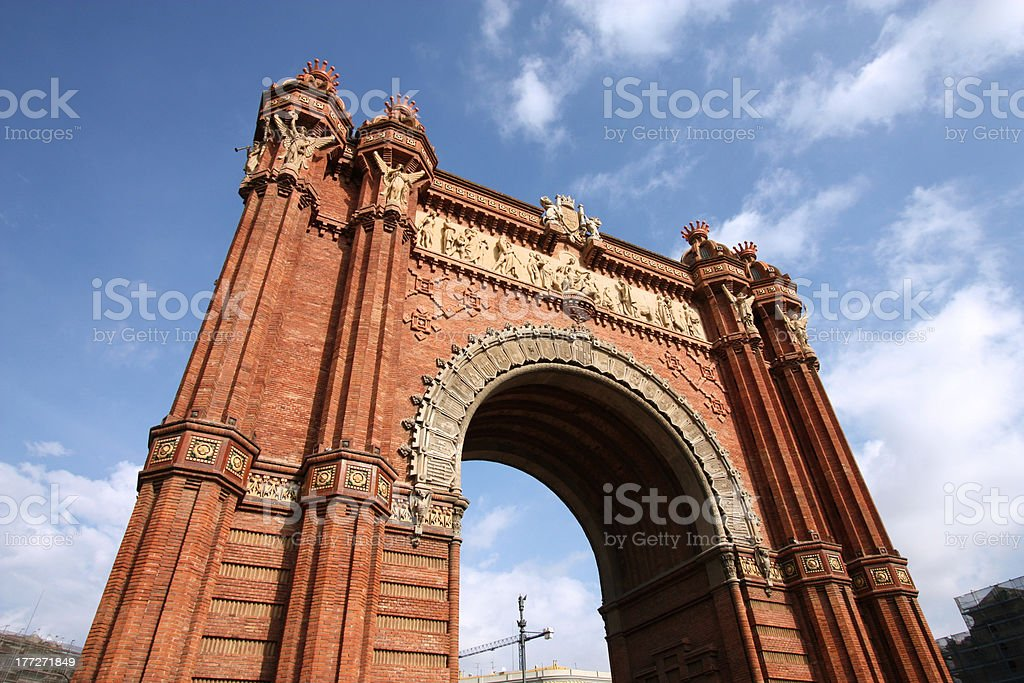 Barcelona - Triumphal Arch stock photo