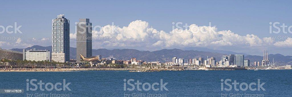 Barcelona waterfront royalty-free stock photo