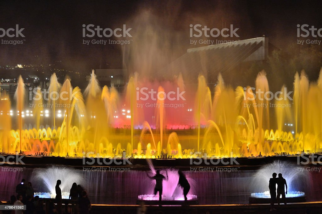 Barcelona./Magic Fountain of Montjuïc stock photo