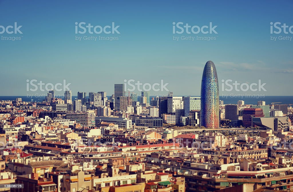 Barcelona`s Financial District stock photo