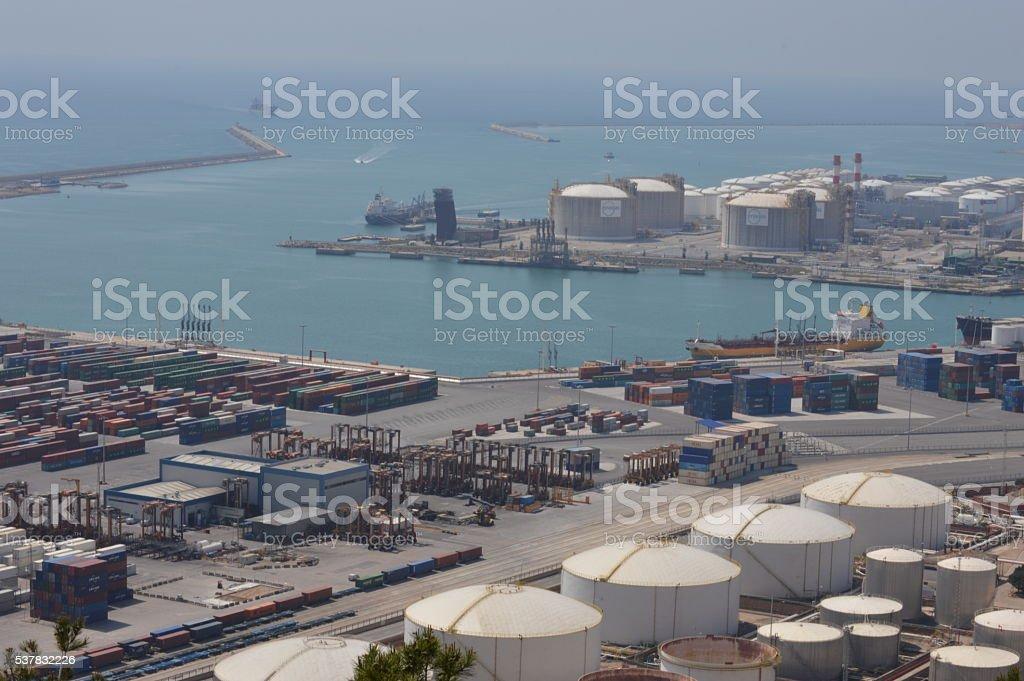 Barcelona's port 3 stock photo