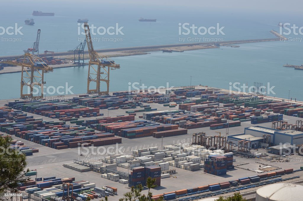 Barcelona's port 4 stock photo