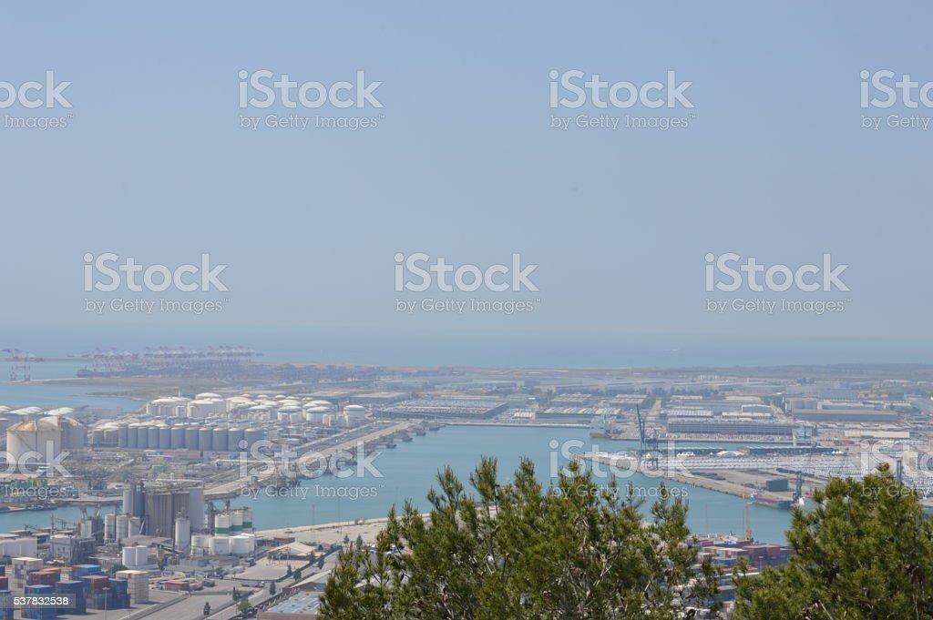 Barcelona's port 5 stock photo