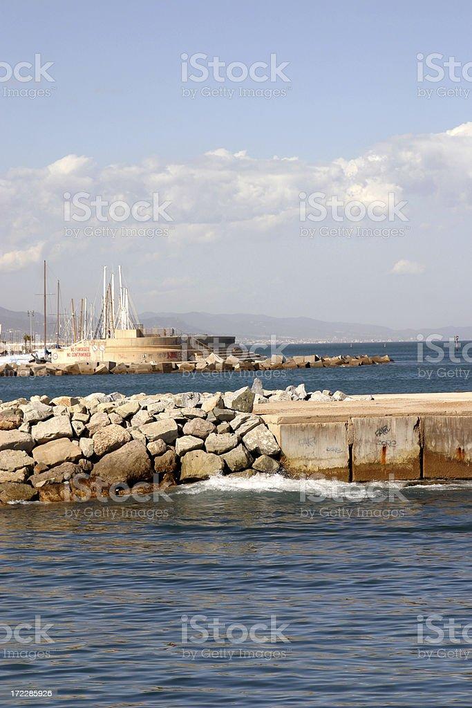 barcelona's port royalty-free stock photo
