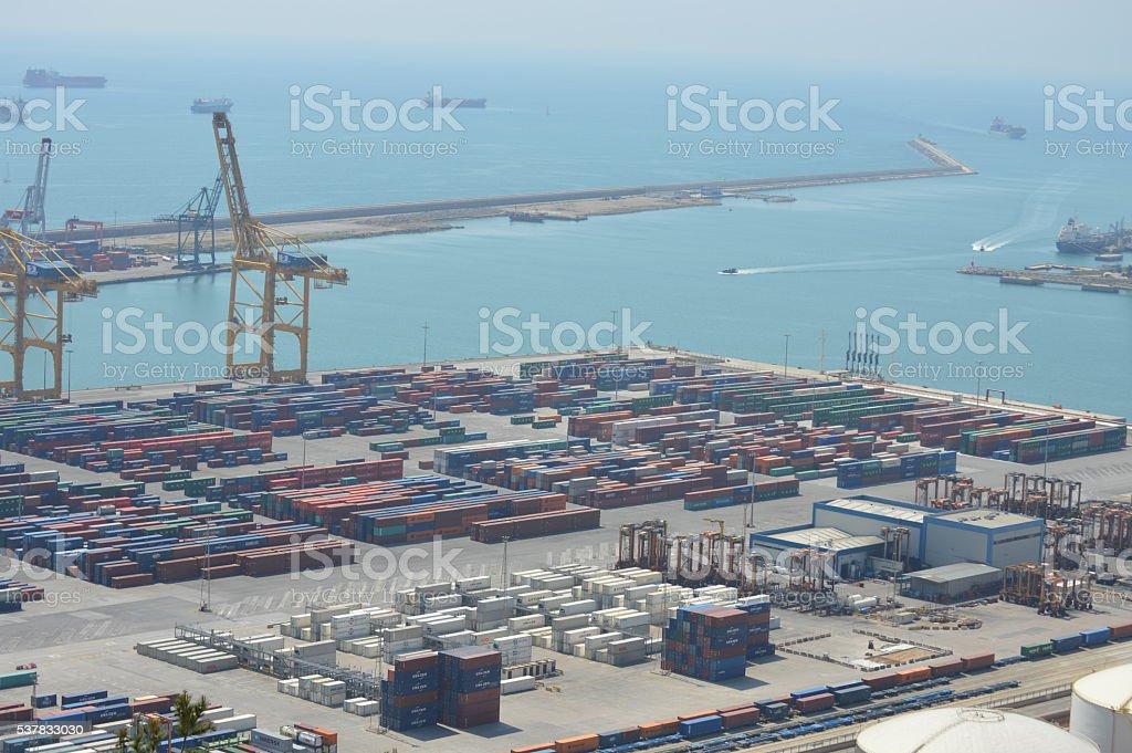 Barcelona's port stock photo