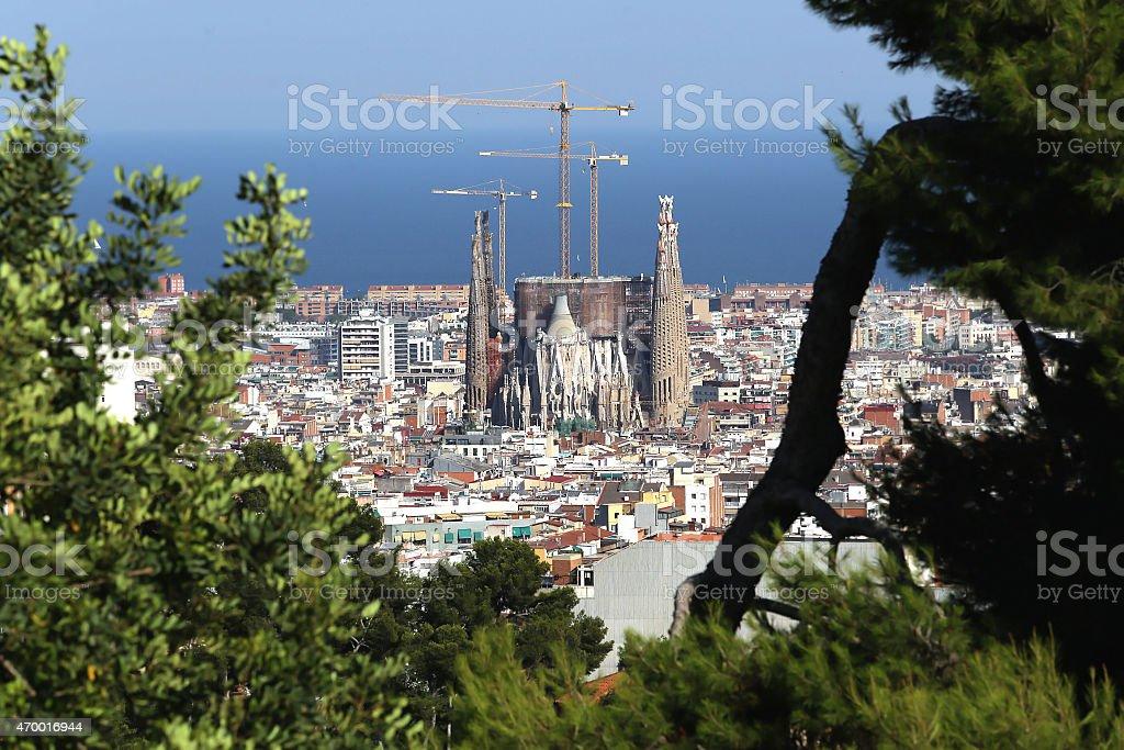 barcelona,spain,Sagrada Familia stock photo
