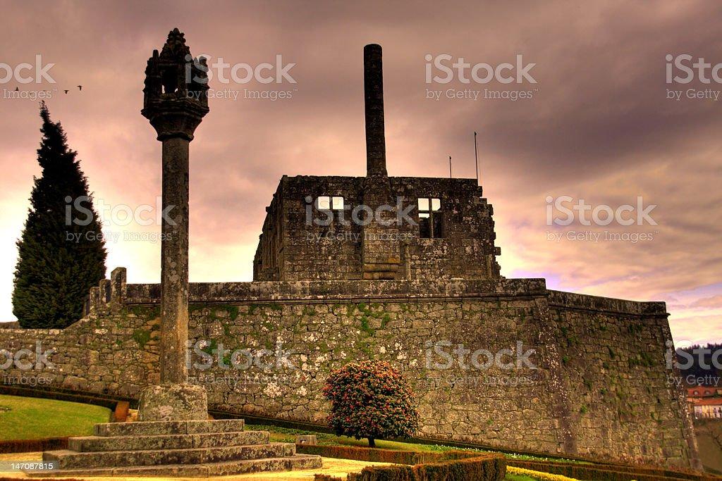 Barcelos Castle stock photo