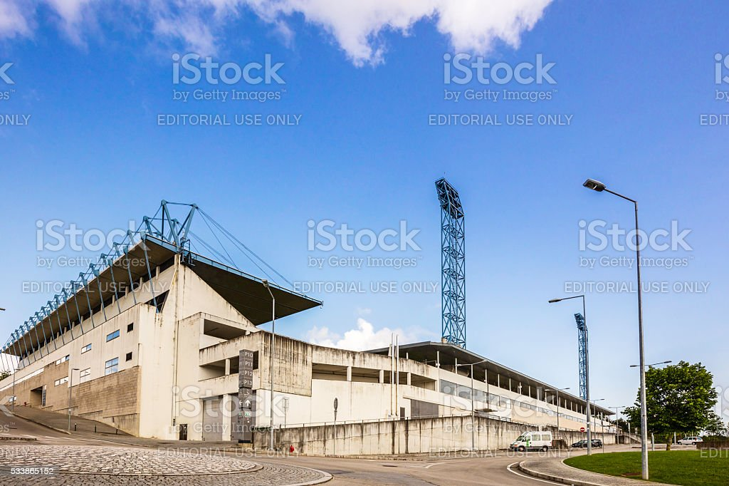 Barcelos Stadium in Barcelos, Portugal stock photo