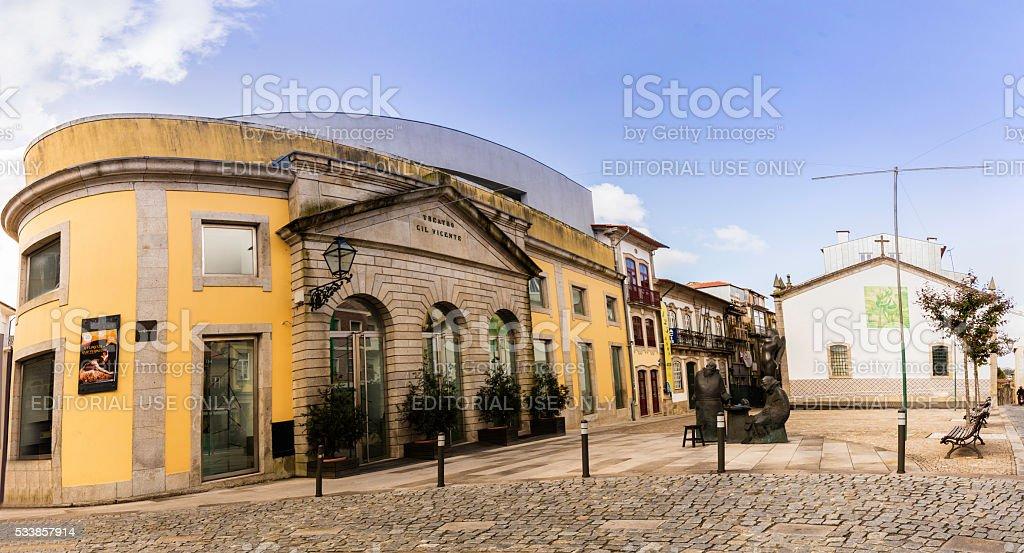Barcelos theatre in Portugal stock photo