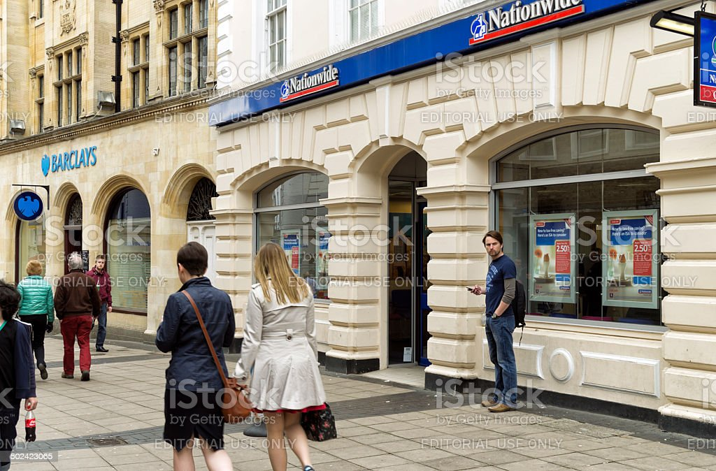 Barclays Bank and Nationwide Building Society branches, Norwich royalty-free stock photo