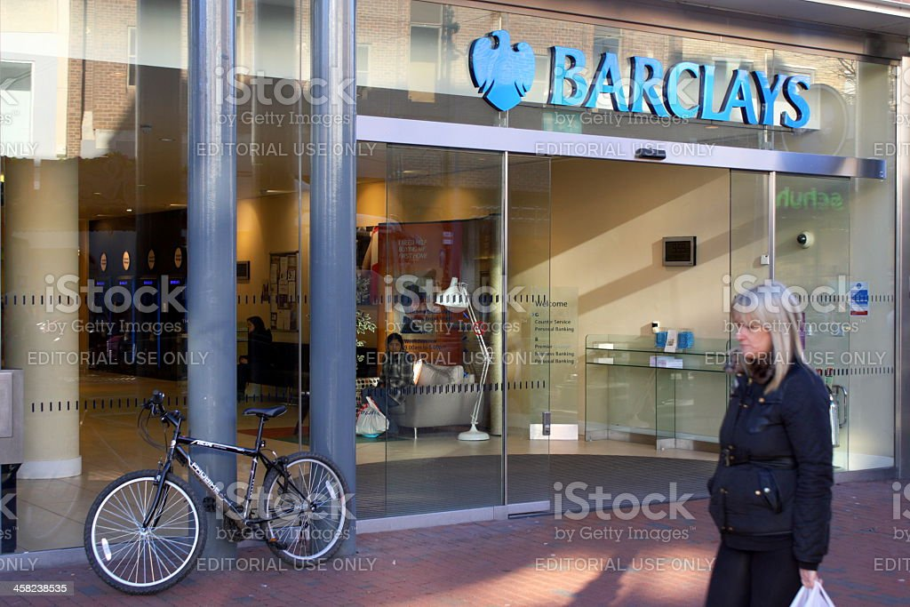 Barclays Bank in England royalty-free stock photo