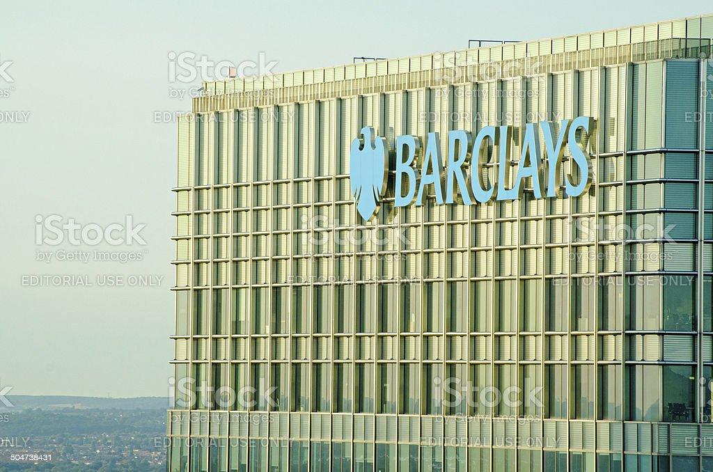 Barclays tower, Canary Wharf stock photo