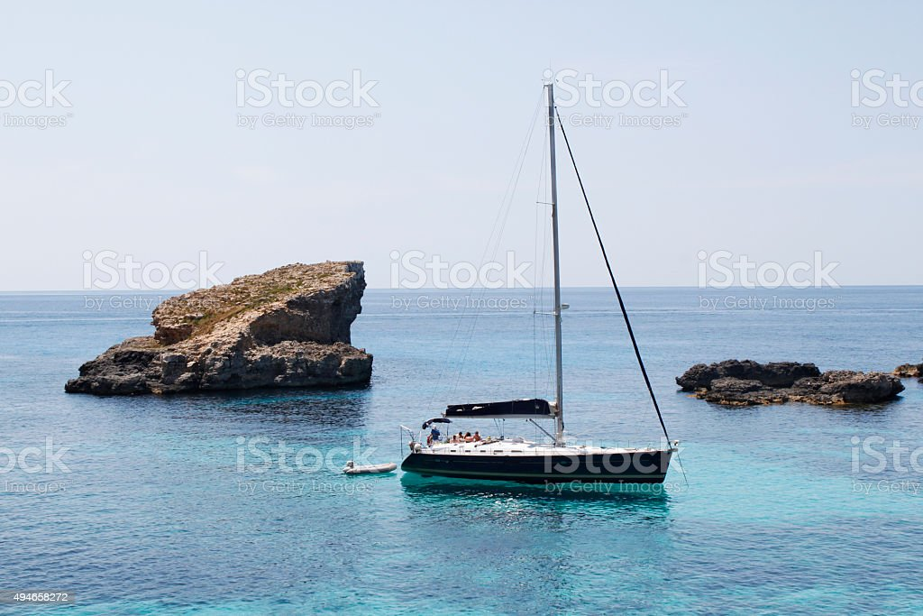 barco de vela - sailing boat stock photo