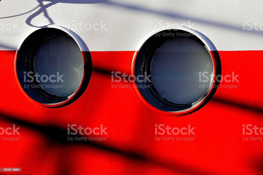 barco ojos de buey royalty-free stock photo