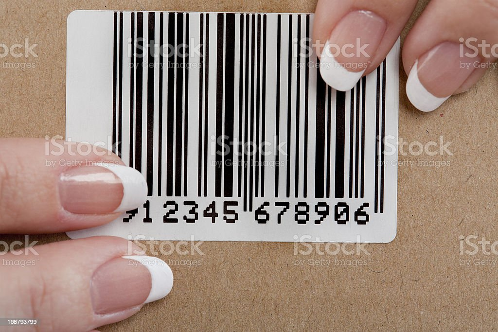 Barcode label stock photo