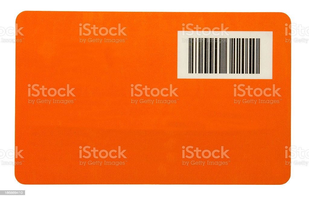 Barcode on orange royalty-free stock photo