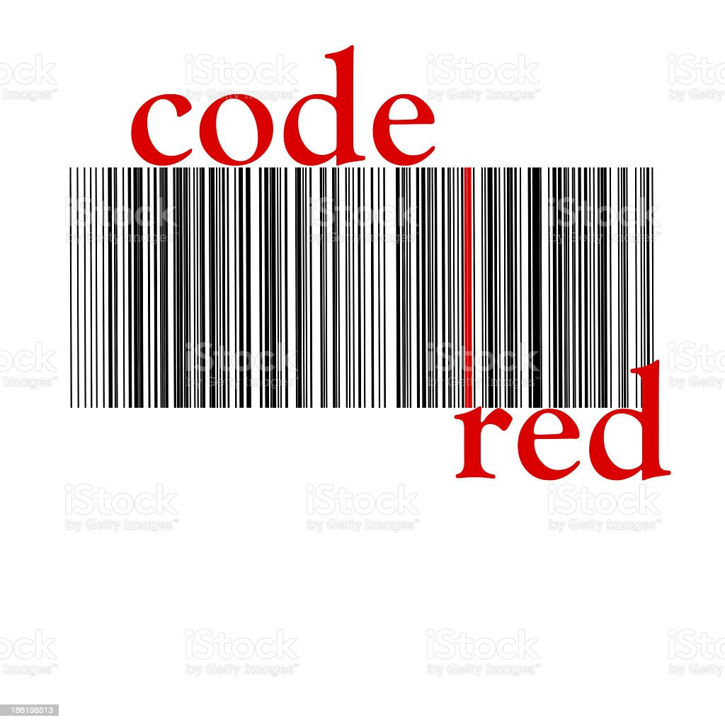 barcode red royalty-free stock photo