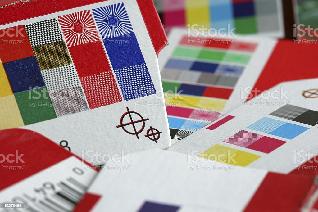 A barcode registration and color selections stock photo