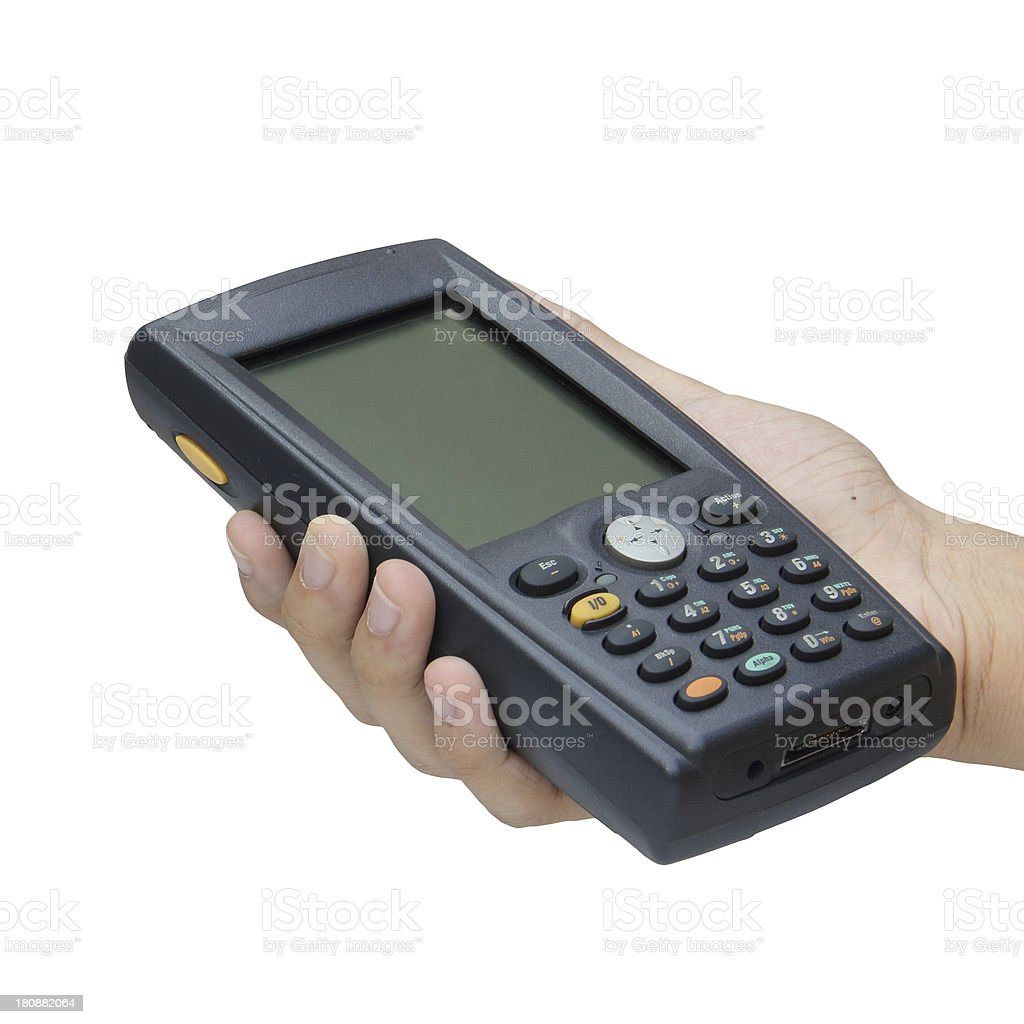 Barcode scanner operated on PocketPC royalty-free stock photo