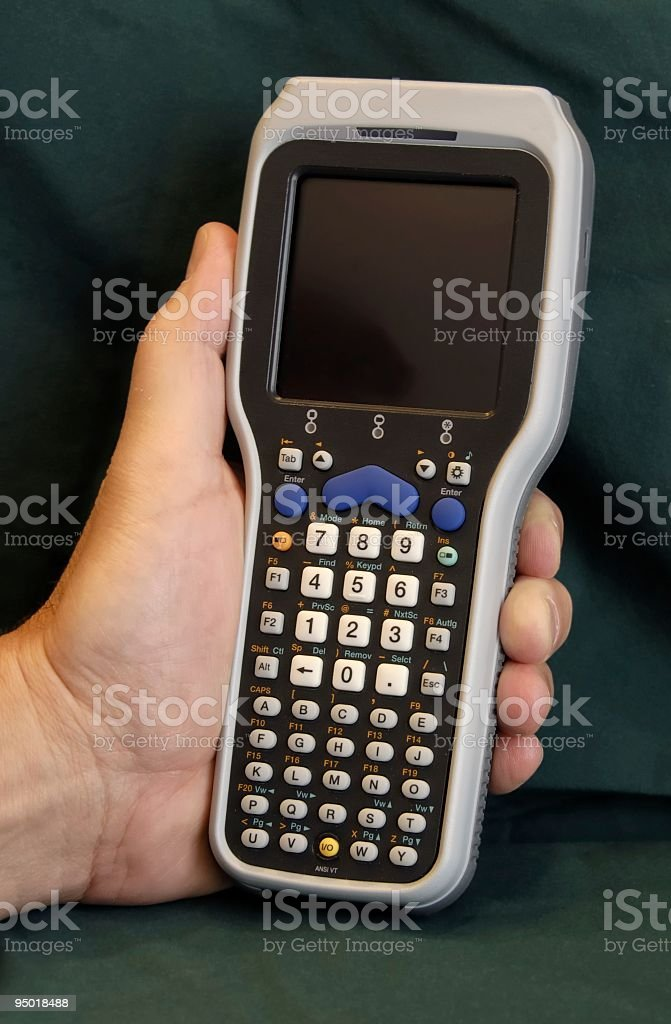 Barcode Scanner (Hand Held) royalty-free stock photo